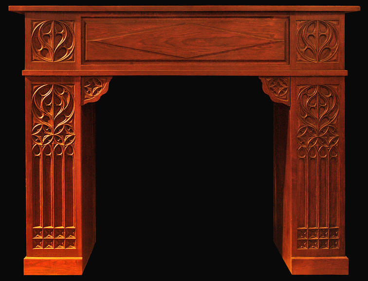 item mantel grand chestnut tudor mantel - Antique Fireplace Mantels